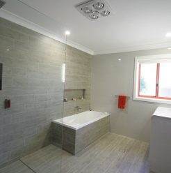 Sydney Bathroom Renovators - Bathroom with Light brown tiles