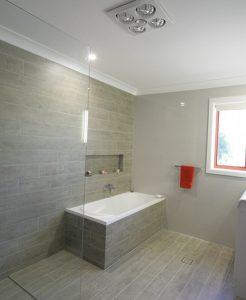 Sydney Bathroom Renovators - Bathroom with Light brown tiles