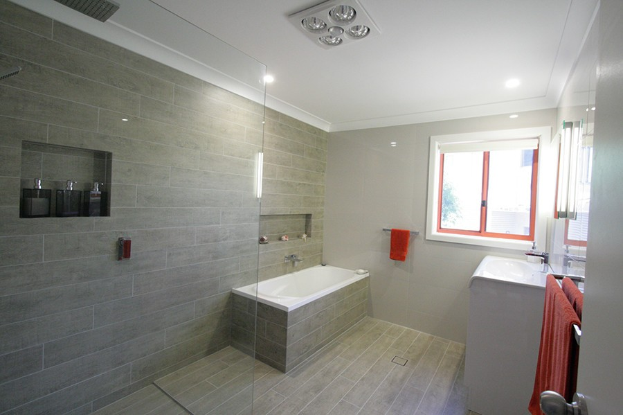 Sydney Bathroom Renovators With Light Brown Tiles