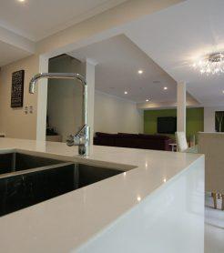 Sydney Bathroom Renovators - Big white tiled bathtub