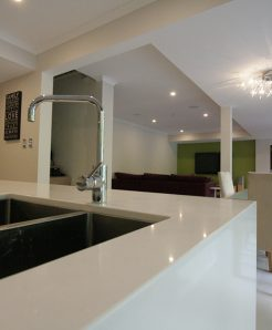 Sydney Bathroom Renovators - Big white tiled bathtub