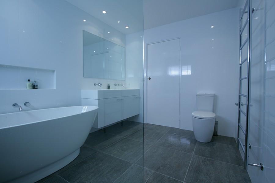 Sydney Bathroom Renovators Bathroom With Grey Flooring Tiles And