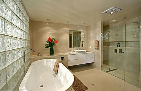 Sydney Bathroom Renovators - light brown bathroom with big bathtub