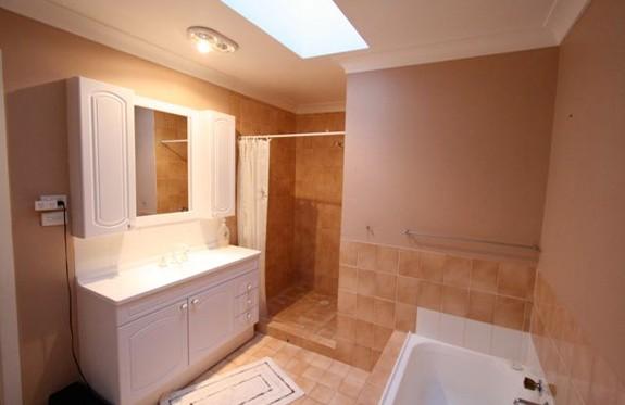 Sydney Bathroom Renovators - light brown bathroom with tiles