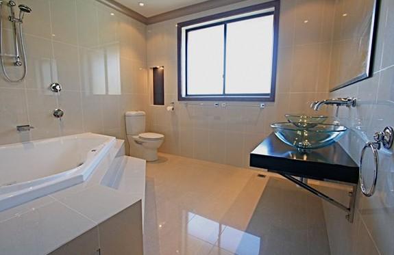 Sydney Bathroom Renovators - bathroom with white flooring tiles