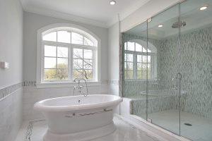Bathroom Renovation - Simple white bathroom